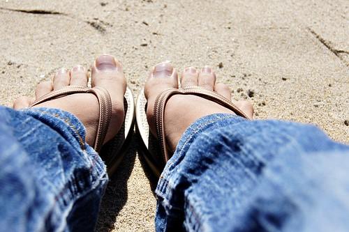 Beach: My sandals