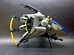 Delta - Wye Straight Side (SuperHardcoreDave) Tags: lego space future scifi spaceship starcraft spacecraft moc starfighter spacefighter