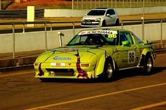 Circuit Club @ EC (yakidkay) Tags: car japanese twilight yokohama sa mazda rx7 rotary flares motorsport raceway easterncreek circuitclub