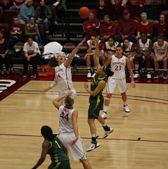 Kayla Pedersen Challenges the Shot