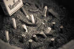 """Cigarette Tombstone"""