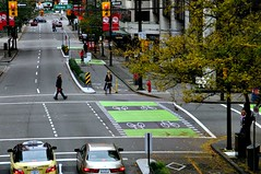 bike lane in Vancouver (by: Paul Krueger, creative commons license)