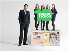 Tenner Tycoon 2010 Winners with Peter Jones