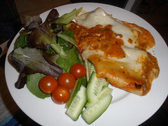 Tesco cannelloni with salad