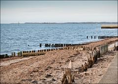 Lepe Beach (*ian*) Tags: sea seascape beach water stone landscape coast seaside high sand tide hampshire pebble coastal solent groyne hightide lepe bigemrg