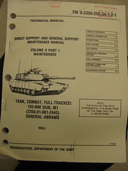 Technical manual for a tank (cover image)
