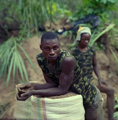 Artisanal miner South Kivu DRC (mm-j) Tags: portrait film gold hard scan negative pentacon artisanal miner drc 120mm democraticrepublicofcongo southkivu p6tl