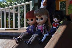 Divertimento de Aisha,Iani e Lissha no escorregador!!