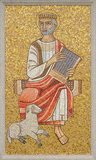 Resurrection Cemetery, in Affton, Missouri, USA - mosaic of King David