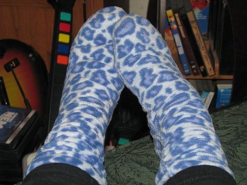 me socks leopard fleece dailyimage2011
