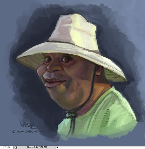 digital caricature of lemorris harris - 1