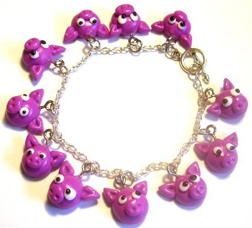 Pig Charm Bracelet