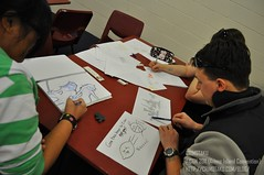 Mim and I drawing. Photo courtesy of Crimotaku.