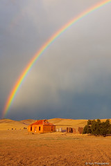 Rainbow over Burra Homestead (-yury-) Tags: house abandoned landscape rainbow farm australia homestead burra