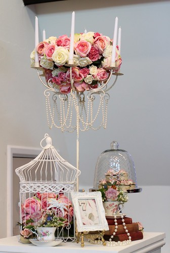 Shabby Chic Table Centrepieces