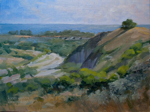 San Mateo Creek San Clemente Plein Air Oil Painting by kwint