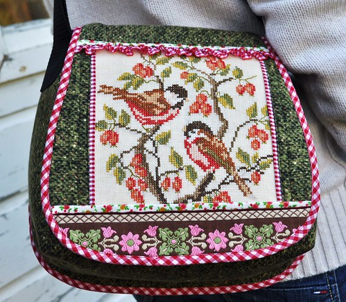 Spring bird shoulderbag