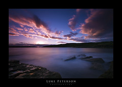 """Perspective II"" - La Perouse (Luke Peterson Photography) Tags: blue sunset water golf rocks long exposure angle cloudy wide perspective course colourful"