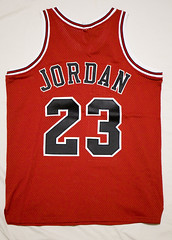 Michael Jordan game used material jersey (C.S.W.) Tags: chicago mj bulls jersey nba michaeljordan