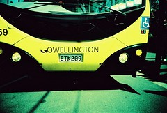 GO Bus (©middlegrey) Tags: newzealand bus film yellow polaroid lomo lca crossprocessed slide wellington expired welly aotearoa gobus chrome100
