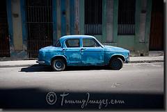 A blue car with peeling paint in Havana (zanatecoqueto) Tags: old latinamerica horizontal vintagecar alone havana cuba nobody architectural oldcar peelingpaint cuban decrepit habana patience bluecar maquinas lahabana vintageautos mquinas classicautomobiles travelphotos ciudaddelahabana spanishspeakingcountries yanktanks worldcars