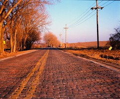 Old Lincoln HWY 6 (racerx#9) Tags: mamiya film gold 645 bricks sunsets omaha goldensunsets ektar100 oldlincolnhwy