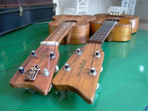 two 60s Kamaka's