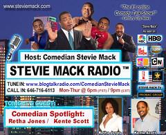 STEVIE MACK RADIO™ - Comedian-Spotlight: Retha Jones / Kente Scott