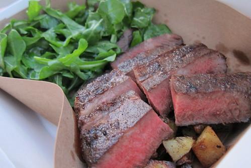 Flatiron Truck: Flatiron Steak + Salad, Potatoes