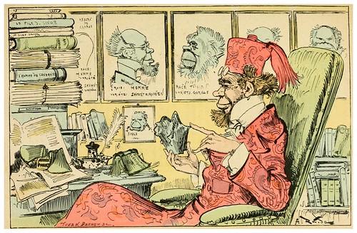 010-El sabio Poulet-Golard en su estudio-La grande mascarade parisienne 1881-84-Albert Robida