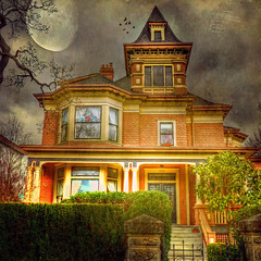 The moon gazed on my midnight labours .. HDR (ZedZap Photos) Tags: vacation moon landscape weird scary bc ominous eerie creepy spooky vancouverisland chilling mysterious uncanny ghostly hdr victoriabc supernatural unearthly spinechilling perigee yatesstreet supermoon zedzap magicunicornmasterpiece 1270yatesstreet