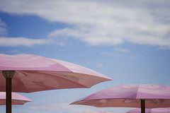 pink umbrellas or 'Barbie Beach' (Jude Marion) Tags: pink toronto ontario canada beach umbrella cal jcc sugarbeach pinkumbrella topw art2011 topwdm