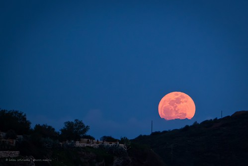 perigee supermoon at sounion