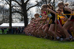 Junior Girls Start (AdamKR) Tags: pictures park nottingham uk english athletics cross photos pics sony country free competition run xc schools championships alpha dslr wollaton xcountry aviva 2011 a550