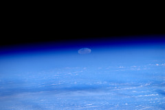 #Supermoon rise seen from space (1/6) (astro_paolo) Tags: moon earth super nasa moonrise esa internationalspacestation earthfromspace europeanspaceagency supermoon expedition27 magisstra