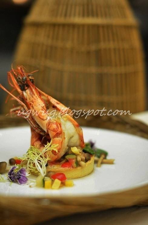 Pan roasted King Prawns