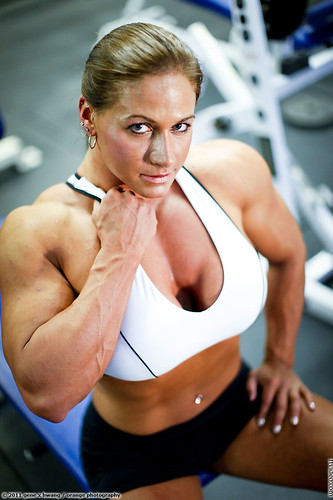 Female bodybuilder Theresa Ivancik