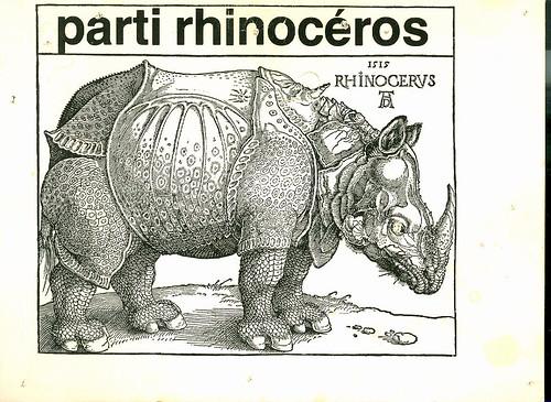parti rhinocéros Ionesco gazette littéraire