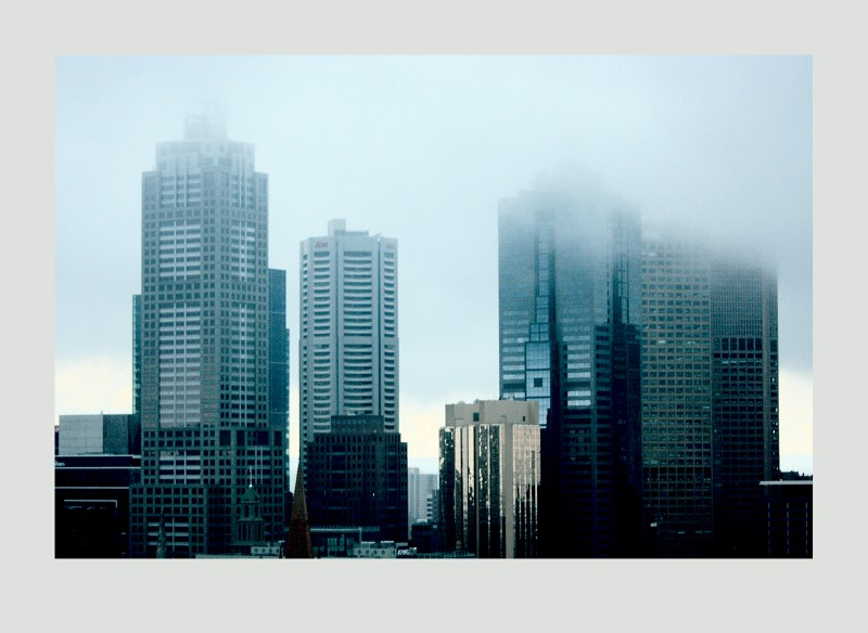 Melbourne on a Misty Day