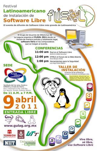 Poster del Flisol 2011