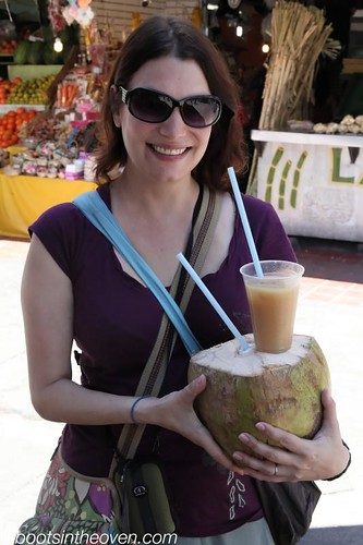 a HUGE coconut and tejuino con nieve
