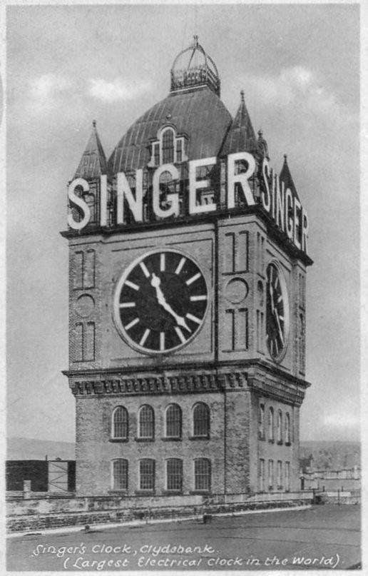 Singer Factory Clock, Clydebank.