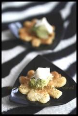 fiorellini di piadina con crema carciofi