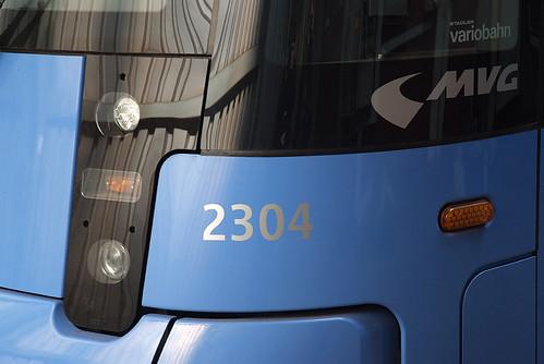 Die Wagennummer 2304 wird erhalten bleiben. Die vollständige Bezeichnung 92 80 0451 004-6 D-MVG ist nur auf der Seite angeschrieben