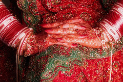 * (whoisnd) Tags: wedding red india green colors bride pattern hand princess bokeh details nail fingers marriage tattoos henna handwork nitin bangles sequince weddingphotography nailpaint chooda nitindangwal