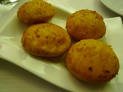 Pumpkin fritters at l'Orient d'Or