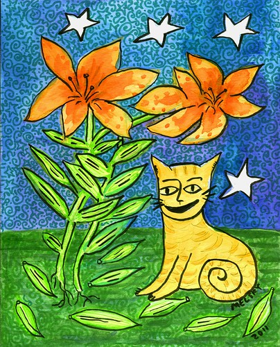 Tiger Lily Cat by Melsky