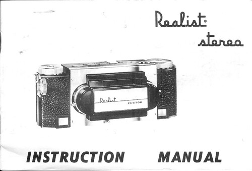 realist stereo camera instruction manual 1