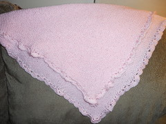 Baby Blanket-cotton candy pink