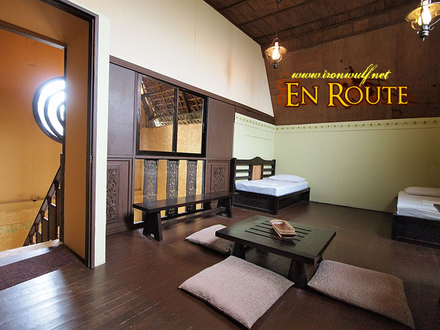 The spacious upper room of the casita
